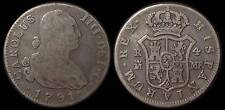 pci757) SPAIN  Carolus IIII DEI G 4 Reales 1791 MADRID  MINT Uncleaned