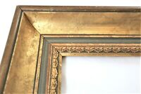"VINTAGE Fits 11X14"" Gold Picture Frame Wood Gesso Fine Art Ornate Deep Country"