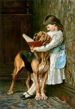 Briton Riviere Oil Painting repro Naughty Boy or Compulsory Education