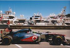 Sergio PEREZ McLAREN SIGNED 12x8 Photo MONACO BAY AFTAL Autograph COA Formula 1