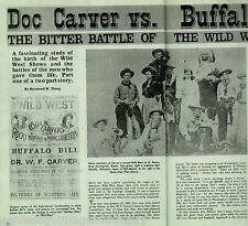 Doc Carver* vs Buffalo Bill*Wild West Show+Alling,Blydenburg,Bogardus,FliesAbove