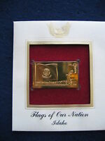 2008 Flags of our Nation Idaho Replica FDI FDC 22kt Gold Golden Cover Stamp