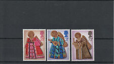GB 1972 MNH NATALE SG # 913-5 Angel Playing TRUMPET LIUTO ARPA STAMPS