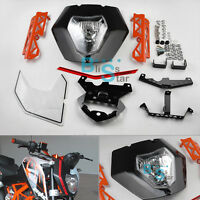 KTM 125 200 390 Duke Black Front Headlight Mask Lights Assembly Cover Plastic K1