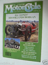 CLASSIC MOTORCYCLE 1989-10,BROOKLANDS MORGAN,NORTON INTER,SCOTT TRIAL,SUNBEAM,