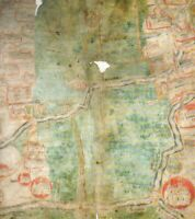 PINCHBECK FEN LINCOLNSHIRE MEDIEVAL HARDBACK MAP 1430 AD SHEEP GRAZING RIGHTS