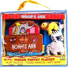Noah's Ark Finger Puppet  Play Set, play theater, puppets, soft book NEW