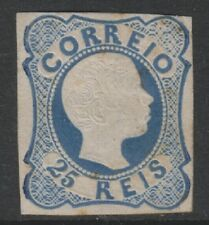 Portugal - 1856/8, 25r Blue - Type b - Double Lines - M/M - SG 21