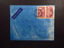 Cover Maroc Morocco Casablanca Postes Par Avion with handwritten letter 1937