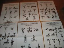 Reg Park MR UNIVERSE COURSE bodybuilding muscle 2 booklets and 6 wall charts