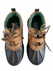 Ralph Lauren Polo Boys Duck Boots Leather/Rubber Size US 5.5 UK 5 EUR 38 New