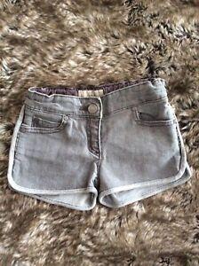 STELLA McCARTNEY Kids Designer Grey Denim Shorts 3 years