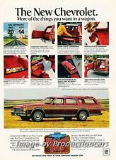 1977 Chevrolet Caprice Station Wagon Original Advertisement Print Art Car Ad H68