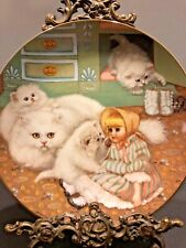 """Hamilton Collector Plate """"Captive Audience� Persian Cats By Ges Gerardi 1988"""