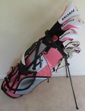 Ladies Golf Set Left Handed Driver Wood Hybrid Irons Putter Clubs & Bag Graphite