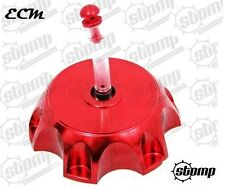 Red CNC Alloy Pit Dirt Bike Petrol Fuel Cap Genuine Stomp Component WPB Demon X