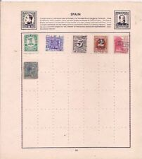 6 SPAIN stamps on an album page.