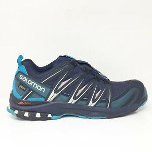 Salomon Mens XA Pro 3D Chassis 393320 Navy Blue Running Shoes Drawstring Sz 12