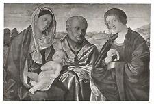 D0225 Vincenzo Catena - La Sacra Famiglia - Stampa d'epoca - 1931 old print