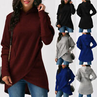 New Womens Fashion Winter V Neck Long Sleeve Sweater Ladies Jumper Pullover Tops