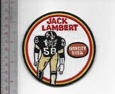 Beer Football Pittsburgh Steelers Jack Lambert & Iron City Beer NFL Promo Patch