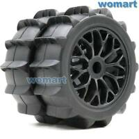 2pcs New 1/8 RC Paddles Tires Snow Sand Buggy tyres 120mm & 1:8 Wheels Hex 17mm