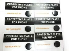 6 shungite circular protective plates phone, polished EMF protection Karelia