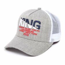 KING Apparel Men's Grey White Heather Homerton Mesh Trucker Cap