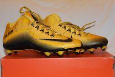 Nike Alpha Pro 2 D 3/4 Men's Football Cleats Black/Gold sz 12