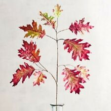 "5 Stem Wild Wood Collection Faux Over-Sized Purple Oak Leaf 14.17""W  4.72""D  37"""