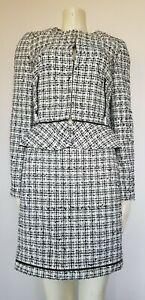 Esprit Classic Textured Houndstooth Blazer & Skirt Suit Matching UK14/10 RRP £59