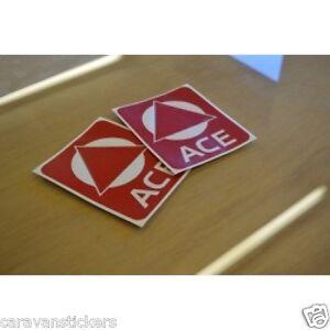 ACE High Reflective Logo Caravan Stickers Decals Graphics - PAIR