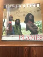 Foundation ‎– Flames Promo LP 1988 ROOTS REGGAE First Class Shipping