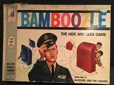 Vintage 1962 Milton Bradley BAMBOOZLE Hide & Seek Board & Game McKeever NBC TV
