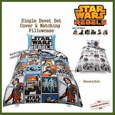 NEW Star Wars Rebels 50% Cotton Single Bed Reversible Duvet Cover Pillowcase Set