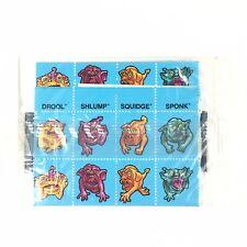 Vintage BOGLINS Kellogg's Mattel Cereal Stamps Stickers Squidge, Sponk UNOPENED