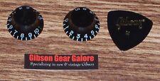 Gibson Les Paul Knobs Firebird Zero Black Top Hat Set Bell M2 SG Guitar Parts X