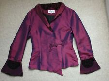 Used – Traditional Chinese Style Purple Ladies Fitted Jacket – size Small