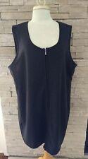 Women's Halmode Plus Acrylic Knit Zip Front Jumper Dress Gray Sz 2X