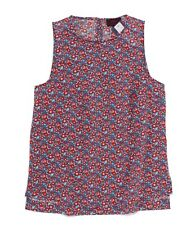 Liberty of London for J.CREW Women's 8 Betsy Ann Floral Keyhole Tank H4646