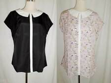 Polyester Collared Cap Sleeve Tops & Blouses for Women