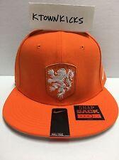 Nike Netherlands Core Cap Safety Orange Snapback Hat 728912 815 White Lion Crest