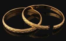 18ct Dubai Gold Filled Bangle Rolled Bracelet Frosted India Asian Wedding