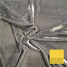 "GREY Soft Plain Velvet Fabric Material - 58"" - More Colours Available PB06"
