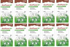 Zenipower hearing aid batteries (Size 312) - 10 cards (60 cells).
