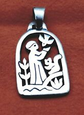 Larger Size Retired James Avery St. Francis Loves The Animals Pendant