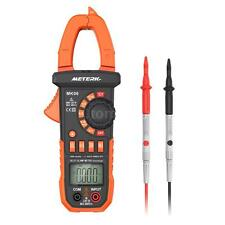 Meterk Digital Clamp Meter Multimeter LCD Handheld True RMS AC/DC Voltmeter E8T2
