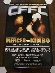 CFFC Kimbo Slice v Ray Mercer Cage Fury Fighting Full Sized Poster UFC Elite XC
