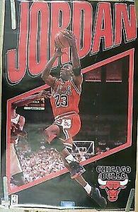 Vintage 1993 Chicago Bulls Michael Jordan Starline Infinity Series Poster