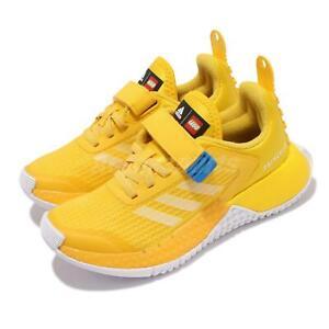adidas LEGO Sport EL K Yellow White Blue Strap Kids Preschool Casual FZ5442